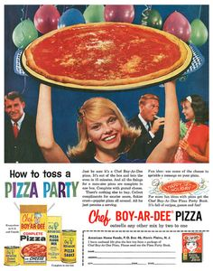 """Advertising.                  When we were little, this was the only kind of pizza we knew....it was """"gourmet"""" to us!!"""