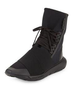 Qasa Men's High-Top Sneaker Boot, Black - Y-3