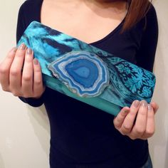 Turquoise Patterned Agate Clutch Turquoise Pattern, Agate, Clothes, Style, Fashion, Outfits, Swag, Moda, Clothing