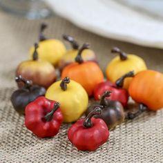 Assorted Miniature Artificial Pumpkins
