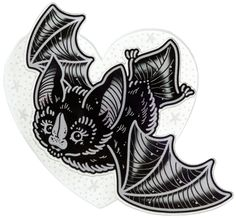 CREEP HEART BAT ECHOES BROOCH - This 'Bat Echoes' Brooch has been illustrated by Ella Mobbs and handcrafted from printed and laser cut acrylic, and is a great way to add some detail to an outfit. The clear acrylic heart has a ghostly feel, which can be illuminated by wearing over black.
