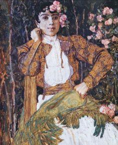 Spanish Woman in Green, Alexander Golovin
