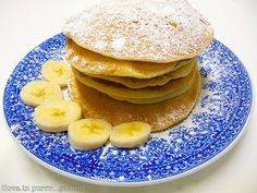 Banana pancakes without eggs