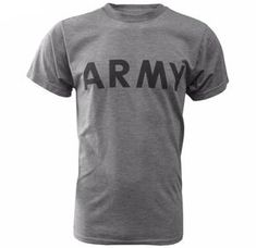 Genuine US Army T-Shirt - United States soldiers need something a little less heavy and serious when they're not out in combat. Us Army Logo, Army Combat Uniform, M65 Jacket, Waterproof Poncho, Army Print, Army Shirts, Army Surplus, Military Fashion