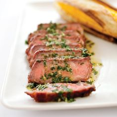 Grilled Argentine Steaks With Chimichurri Sauce