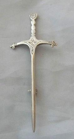 Vintage Sterling Silver Celtic Sword Kilt Pin Brooch Hamish Dawson Bowman A439 | eBay