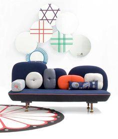 design wall mirror SHEESHA by Nipa Doshi Jonathan Levien MOROSO