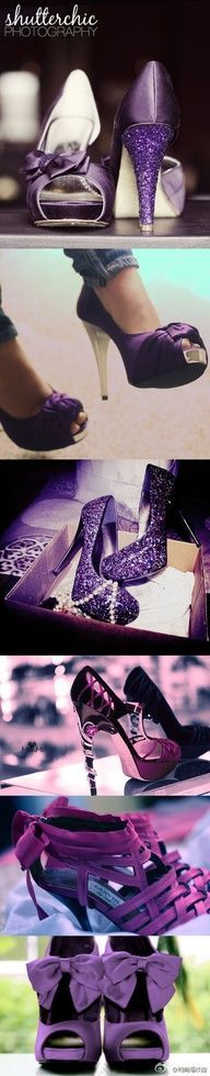 <3 purple wedding shoes Love the second from the top... way too high though!