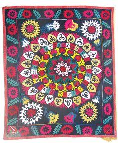 Handmade Vintage Suzani NL2075