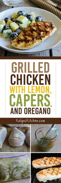 Grilled Chicken with Lemon, Capers, and Oregano is easy to make and ...