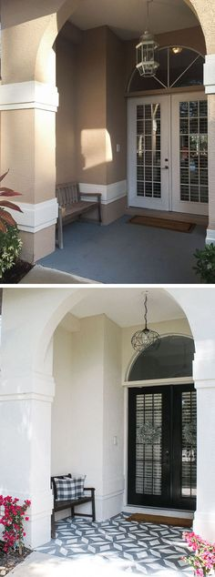 Porch makeover: I painted the walls, doors and floor! | House Mix