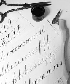Calligraphy Drills: Why They're Important (Albeit Boring) via Happy Hands Project