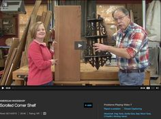 DIY Scrolled Corner Shelf Video Tutorial on #AmericanWorkshop #7blade #Chippendale style #scrollsawpatternsandprojects #fretwork #DIYcornershelf #freeplansforwoodworking #scrollsawshelf 2015 http://video.wbgu.org/video/2365425288/ PBS TV Show CC, web extra #scrollsawtips http://video.wbgu.org/video/2365425615/