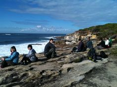 Whale watching from near Jibbon headland in Royal National Park. Only way to get here is to walk, and it's worth it