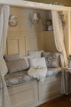 little closet turned reading nook... fabulous