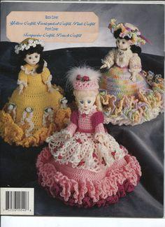 Annies Attic 87T54, Tissue Cover Girls Crochet Pattern