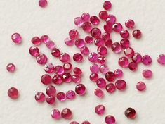 1 CTW Ruby Round Cut Stones 22 Pcs Natural Loose by gemsforjewels