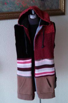 Refashioned Hoodie/Scarf * Skoodie * Hooded Scarf * Reversible * Pockets * OOAK