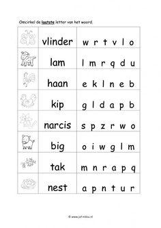 Werkbladen taal - lente ~ Juf Milou Letter Tracing Worksheets, 2nd Grade Worksheets, Tracing Letters, School Worksheets, Afrikaans Language, Learn Dutch, Kids Education, Kids House, Pre School