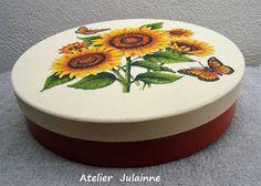 Atelier de Arte Julainne: Flores - caixa de madeira