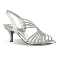 Osionce Peep Toe Wedge Dress Shoes For Womens Silver