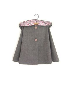 Child Wool Cape $58 - One Me Etsy Shop