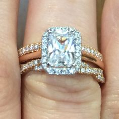 We love rose gold for it's femininity...perfect for your bridal set!