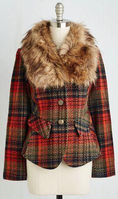 cozy faux fur line jacket