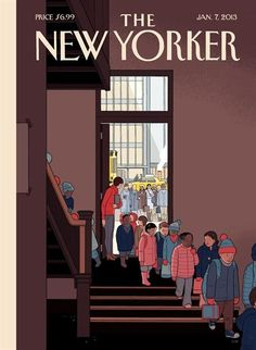 Beautiful cover by Chris Ware for the first New Yorker of 2013