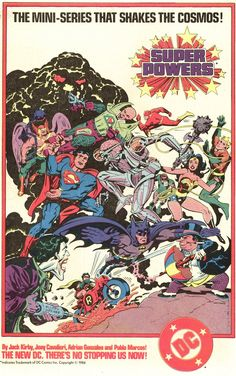 """The """"Super Powers"""" mini-series: Jack Kirby, Adrian Gonzales, and Pablo Marcos"""