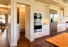 Pantry Design Ideas-31-1 Kindesign ~That pantry door with the chalk board would be great for my kitchen~B
