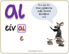 Greek Language, Greek Art, School Hacks, Happy Kids, Grade 1, Special Education, Grammar, Learning, Books