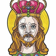 A #queer #jesus vector portrait He love all of us, no?  Maybe it's a good #tatooidea #holytattoo #religioustattoo  #traditionaltatoo  #vectorportrait #vectorart #draw #drawing #vectorillustration #illustration #portrait #picoftheday #artoftheday #Christianity #religion #god #love #lovewins #crown #longhair #trinity #Christ #jesuschrist #sonofgod