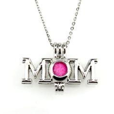 Silver Alloy Letter MOM Pearl Beads Cage Necklace Fashion Jewelry New Mothers Day Special, Mother Day Gifts, Diy Necklace, Necklaces, Pearl Beads, Fashion Jewelry, Pendants, Pearls, Ebay