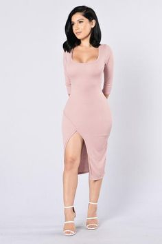 Double Take Dress - Mauve | Fashion Nova. Size: M