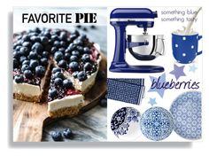 """""""Blueberry pie"""" by sara-86 ❤ liked on Polyvore featuring interior, interiors, interior design, home, home decor, interior decorating, Serena & Lily, Loveramics, Spode and KitchenAid"""