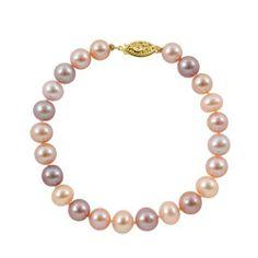"7-7.5mm 7"" Pastel Multicolor Freshwater Pearl Bracelet ""AA"" with 14K Yellow Gold in Gift Box Joy De Mer. $60.00. 100% Silk Thread. Gift Box with Free Shipping. 14K Yellow Gold Clasp. ""AA"" Quality Pearls. 7"" Pastel Multicolor Freshwater Pearl Bracelet"