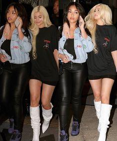 Jordyn Woods and Kylie Mode Kylie Jenner, Kim Kardashian Kylie Jenner, Kendall Jenner Style, Kendall Jenner Outfits, Kendall And Kylie, Kardashian Style, Kylie Baby, Estilo Jenner, Ladies Dress Design