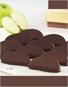 Chocolate Dipped Apple Wedges
