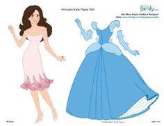 Printable Princess paper dolls/ pour laçage