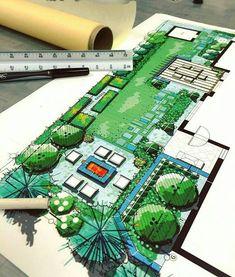 Residential Landscape Architecture Design Process For The Private Residence Landscape Architecture Drawing, Landscape Design Plans, Landscape Drawings, Architecture Plan, Landscape Sketch, Planer, How To Plan, Instagram, Gardening Magazines
