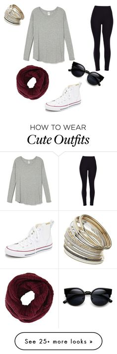 """""""Cute comfy outfit"""" by emilymoore2134 on Polyvore featuring Converse, BCBGMAXAZRIA, Miss Selfridge, women's clothing, women's fashion, women, female, woman, misses and juniors"""