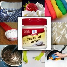 Bakers should be familiar with cream of tartar…especially those who love making meringue cookies, whipped cream, or egg white desserts. But did you know you could use it for lots of other thi… Cleaning Items, Diy Cleaning Products, Cleaning Hacks, Egg White Dessert, White Desserts, How To Make Meringue, Making Meringue, Tartar Removal, Meringue Cookies