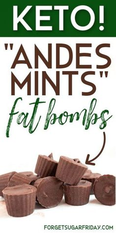 Say YES to these keto fat bombs! This yummy keto fat bomb recipe really tastes like the classic chocolate Andes Mints candies. If you're craving a refreshing and satisfying keto snack or keto dessert, you will love this fat bomb recipe! Keto Foods, Ketogenic Recipes, Keto Snacks, Ketogenic Diet, Keto Desserts, Holiday Desserts, Ketosis Diet, Fast Foods, Vegan Keto