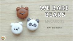 We Bare Bears Macarons Tutorial / Tuto Fimo