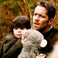 Two cuties. Robin Hood and his so cutey son. Once Upon a Time.