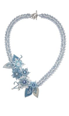 Single-Strand Necklace with Seed Beads, Swarovski Crystal Beads and Glass Pearls - Fire Mountain Gems and Beads