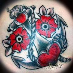 Anchor and roses old school - Cristi- Berlin TAT2 Zone