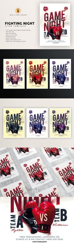 Party Flyer, Game Night, 4th Of July Wreath, Your Image, Layout, Invitations, Templates, Color, Stencils
