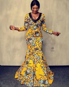 Lovely Ankara Stylish Long Gown Designs for Beautiful Ladies African Dresses For Kids, African Prom Dresses, African Fashion Dresses, Robe Kente, Kente Dress, Long Gown Design, Ankara Mode, Fashion Models, Women's Fashion